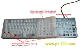 Waterproof and dustproof for mechanical gaming keyboard, silica gel protective film