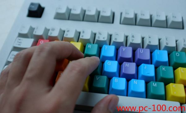 Custom color and color-distribution of key caps for mechanical gaming keyboard