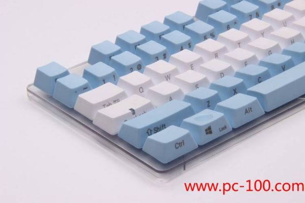 Custom printing locations on key caps for mechanical gaming keyboard