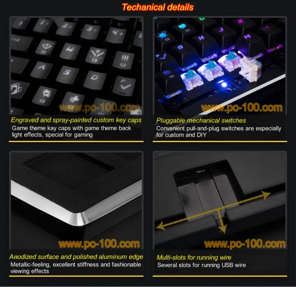 Techanical details of mechanical gaming keyboard, only elaborate design and careful manufacture can make out quality products