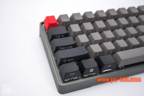Custom programmable GH60 mechanical keyboard, details show