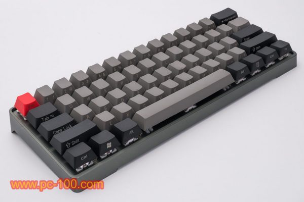 GH60 custom programmable mechanical keyboard (61 keys), players may custom their personal kaycaps color layout
