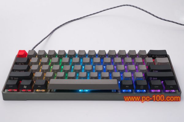 Many RGB backlit effects on custom programmable mechanical keyboard, sound-activated backlit effect (Music backlight), each key's backlight could be RGB color defined under each working modes. This back light is not only for visual effect, but also can be designed to be indicator or reminder.
