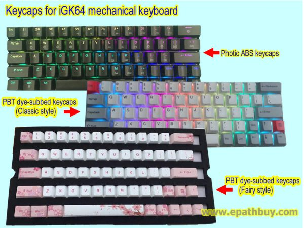 Keycaps for iGK64 mechanical keyboard
