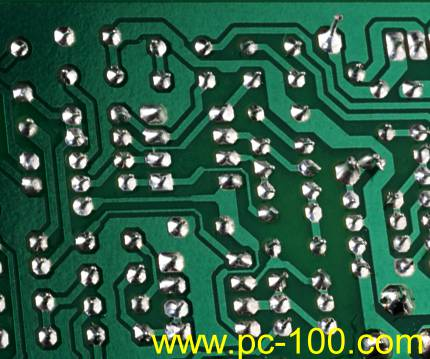 Welding Spots on Mechanical Gaming Keyboard PCB