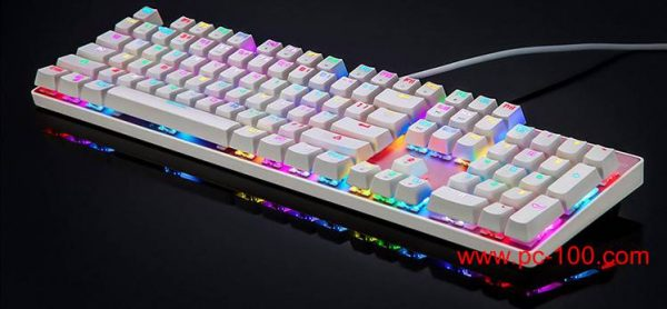 Mechanical gaming keyboard oem with custom kaycaps, custom printing letters