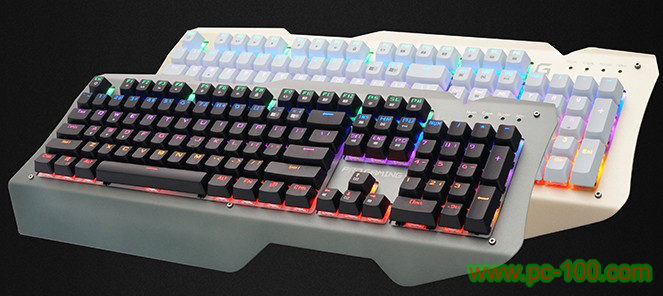 Mechanical gaming keyboard with metal panel & RGB backlit (sc-mk-30)