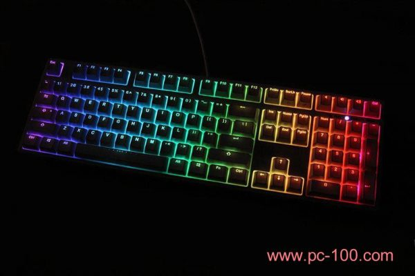 Mechanical gaming keyboard with RGB full color back light