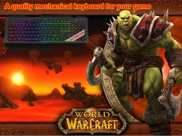 Mechanical keyboard for playing World-of-Warcraft game