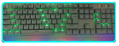 Mechanical keyboard user define backlit effect i love you