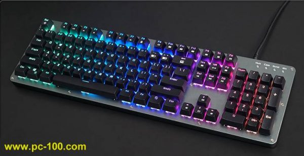beautiful RGB full color LED backlight on mechanical keyboard