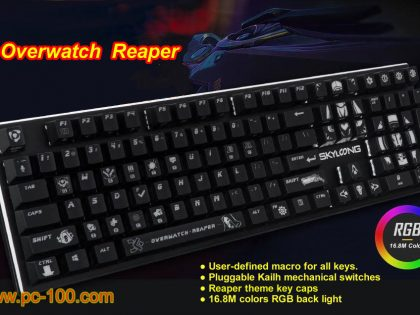 Overwatch Reaper game themed mechanical gaming keyboard (programmable macro and RGB backlit)