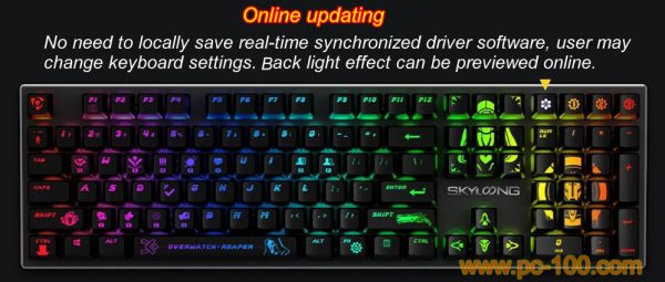 Online synchronized driver software may keep the mnechanical keyboard work on updated environment