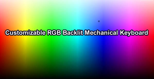 16.8M RGB Full color backlighting illumination mechanical keyboard