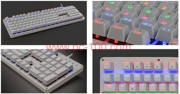 RGB backlitmechanical gaming tastatur detaljer