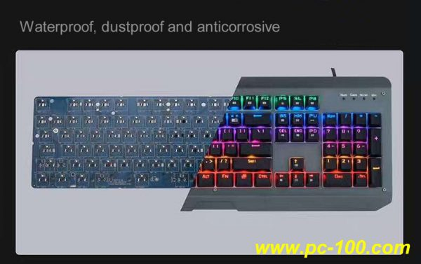 Waterproof, dustproof and anticorrosive mechanical keyboard