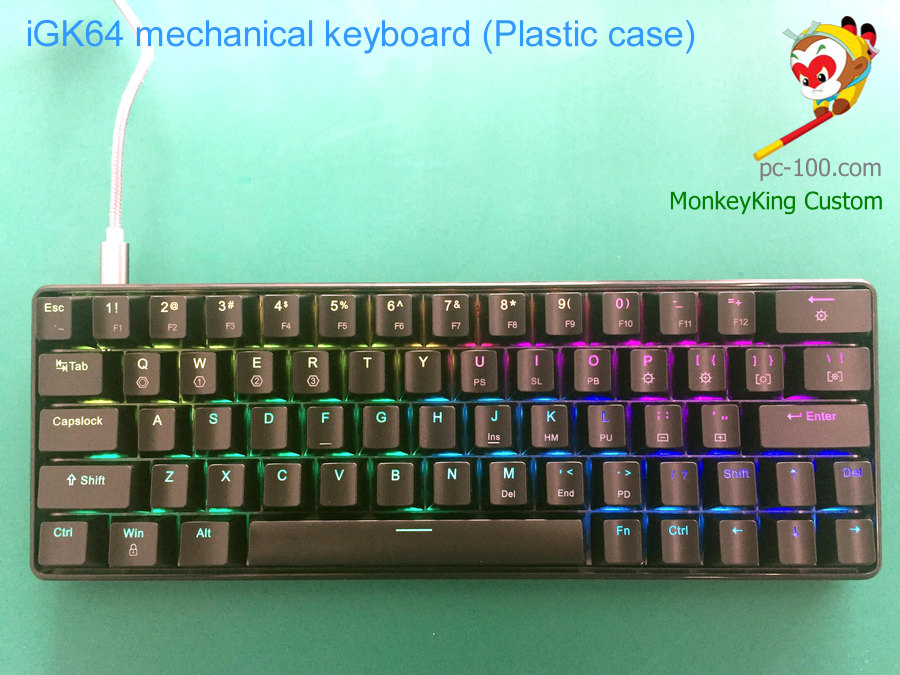 iGK64 RGB hot swappable cherry mx mechanical keyboard with