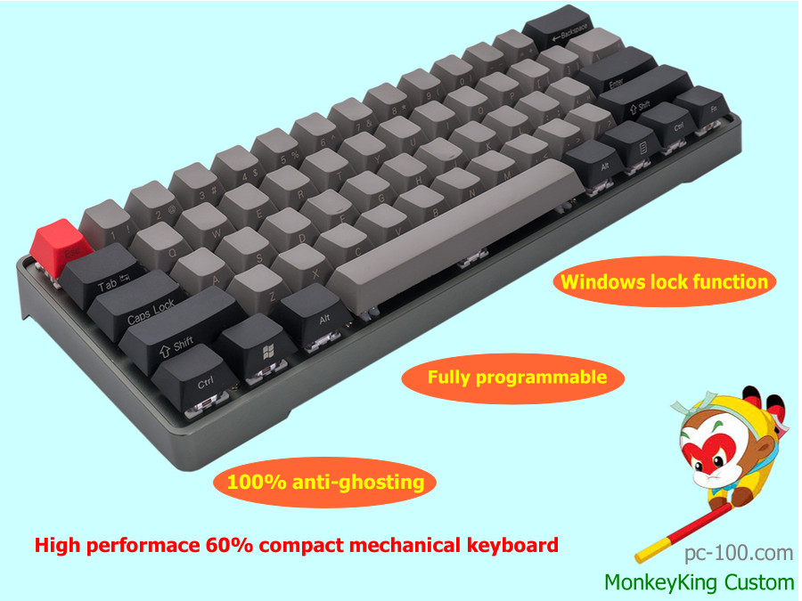 small 60% mechanical keyboard with full RGB programmable