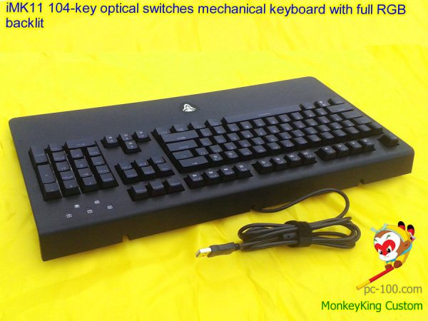 iMK11 104-key optical switches mechanical keyboard with full RGB backlit light