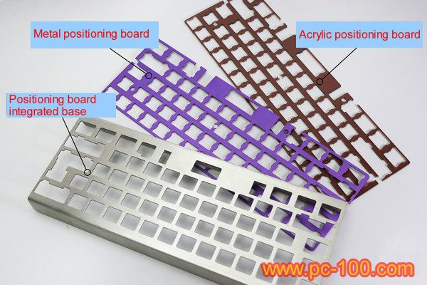 Positioning board for gh60 mechanical keyboard