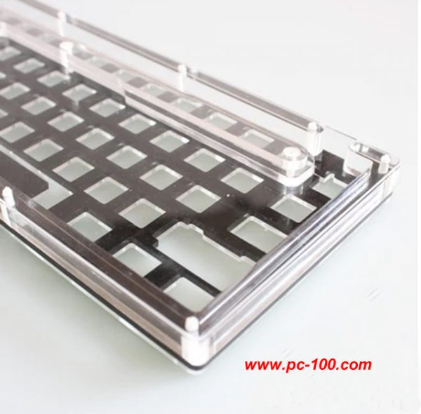 Acrylic shell for GH60 mechanical keyboard, internal PCB may be visible for the transparency
