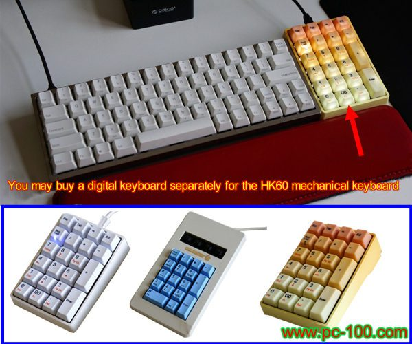 Sometime, you may buy a small digital keyboard for gh60 mechanical keyboard