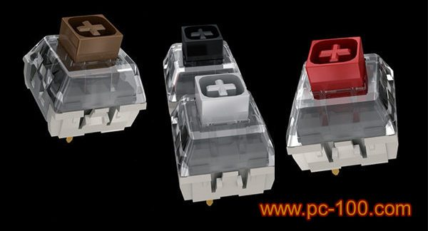 Different colors of mechanical switches for mechanical gaming keyboard