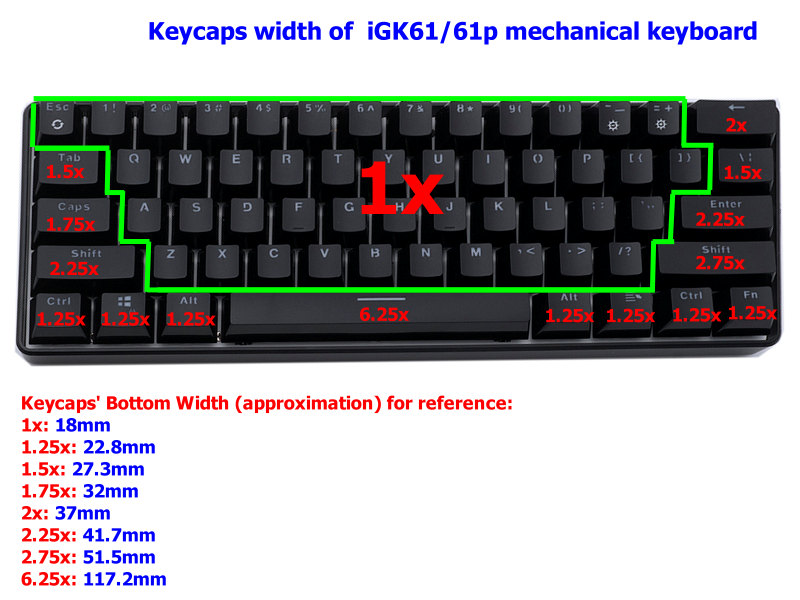 keycaps-set-size-of-iGK61-keyboard