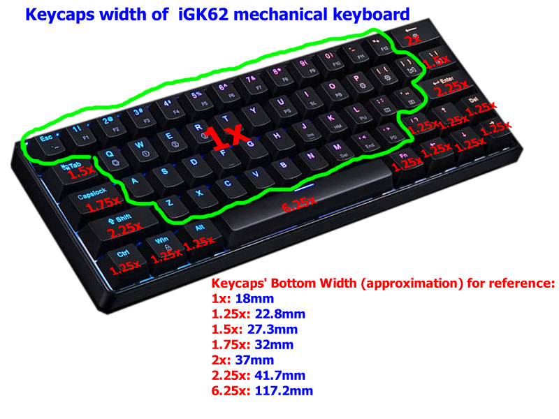 keycaps-set-size-of-iGK62-mechanical-keyboard