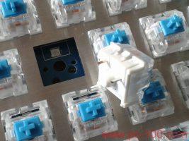 GH60 DIY programmierbare mechanische Tastatur mit steckbaren Schalter (64 Schlüssel), die Buchsen auf PCB, herausziehen und Stecker Schalter