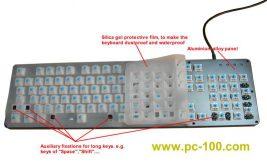 Wasserdicht und staubdicht für mechanische Gaming-Tastatur, Silica-Gel-Schutzfilm