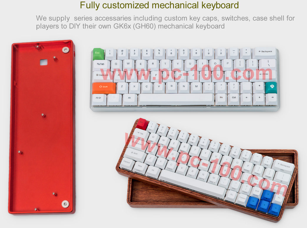 GH60 customized programmable mechanical keyboard accessaries