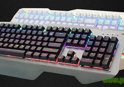 Mechanische Gaming-Tastatur mit Metallblende & RGB-Hintergrundbeleuchtung (SC-mk-30)