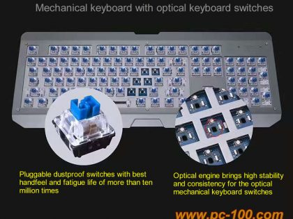Mechanical keyboard with photoelectric switches (optical mechanical keyboard switches)